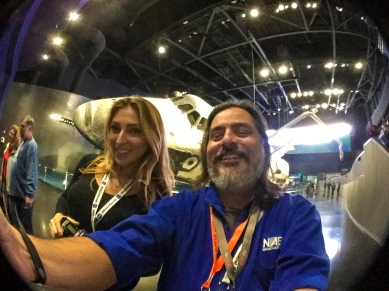 4:50PM - selfie with Katrina Lomidze and the Space Shuttle Atlantis