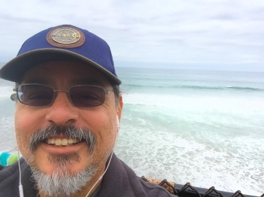2015-05-04 Carlsbad, CA. Enjoying my beach walk.