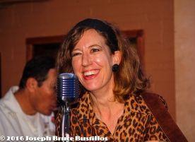2016-01-08 Oak Hill Drifters at Smiling Bison: smiling Rachel Decker