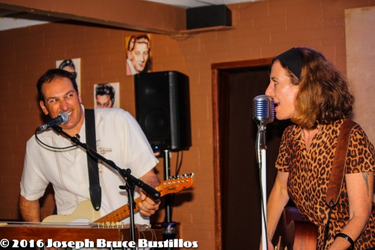 2016-01-08 Oak Hill Drifters at Smiling Bison: Tom Cooper & Rachel Decker funny duets