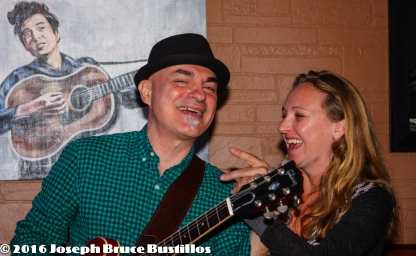 2016-01-08 Oak Hill Drifters at Smiling Bison: George Dimitrov, Jessica Martens - it's just his chin...