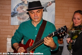 2016-01-08 Oak Hill Drifters at Smiling Bison: George Dimitrov, Jessica Martens