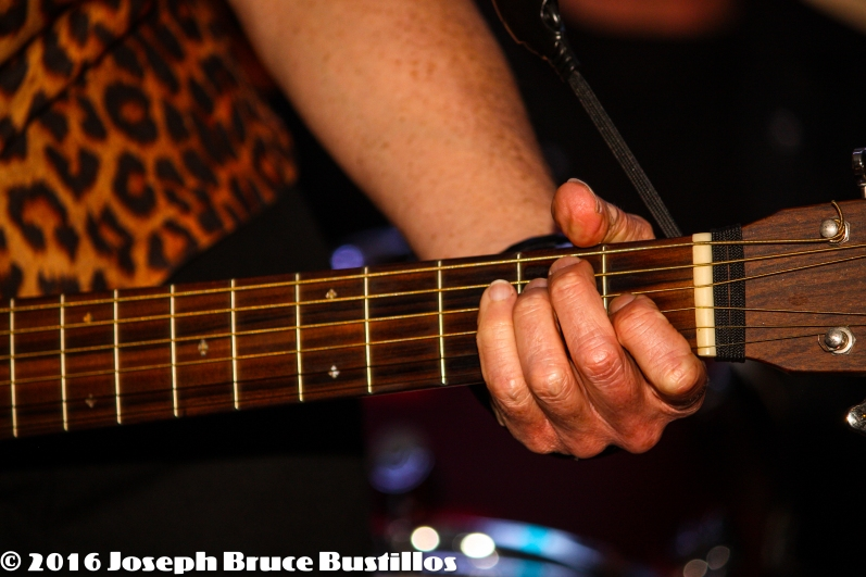 2016-01-08 Oak Hill Drifters at Smiling Bison: Rachel Decker's guitar hand.