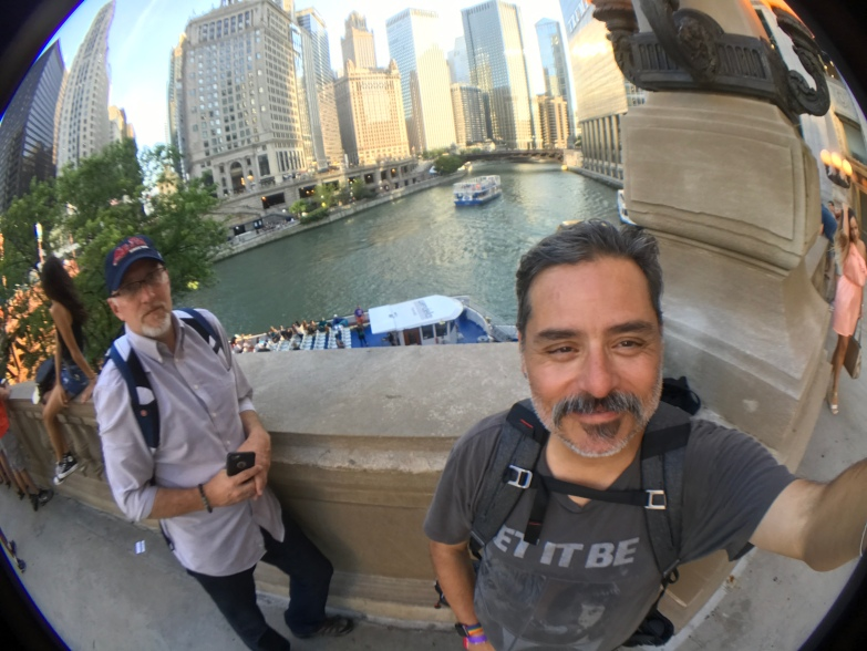 2017-07-22 Chicago River near Wrigley Building (Chicago IL) with Greg Thompson2017-07-22 Chicago River near Wrigley Building (Chicago IL) with Greg Thompson