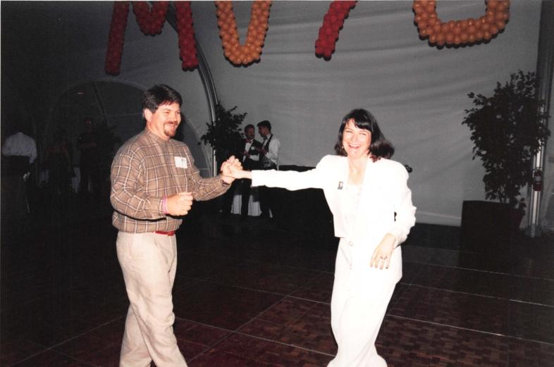 1996-07-20 MVHS Class of 1976 20th Reunion - Creagan & Jen Dancing