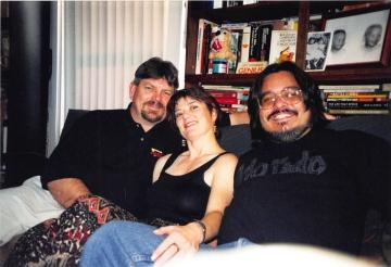 1999-02-03 chillin in my studio - long beach with Jen & Creagan