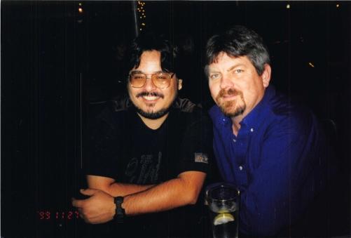 1999-12 Blue Cafe - me and creagan