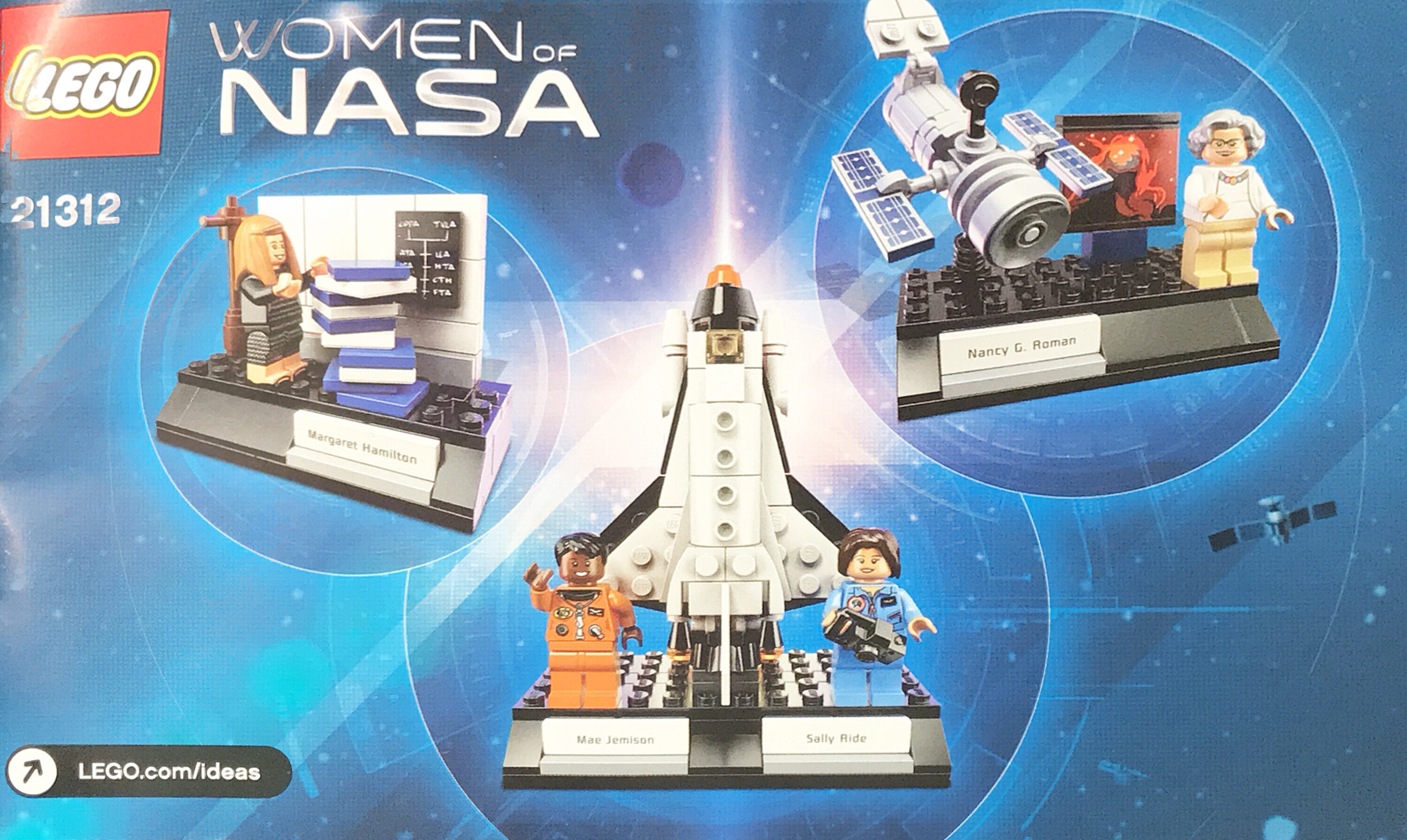 Women of NASA LEGO Kit – Time Elapse Construction