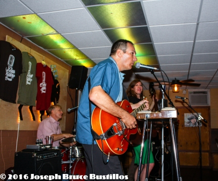2016-06-03 OHD at Smiling Bison: Tom Pearce on drums, Tom Cooper on vocals and guitar, Rachel Decker on guitar.