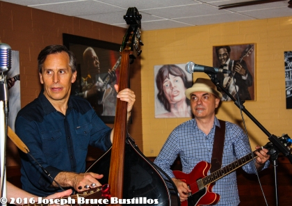 2016-06-03 OHD at Smiling Bison: Craig Roy on upright bass and George Dimitrov on lead guitar.